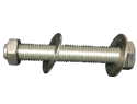 "Bolt Assembly : 3/8""-16 X 2"" Hexhead, 1 Nut, 2 Washers, 18-8 SS Threaded Full Length"
