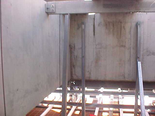 Installation and replacement of tower internals in concrete tower.