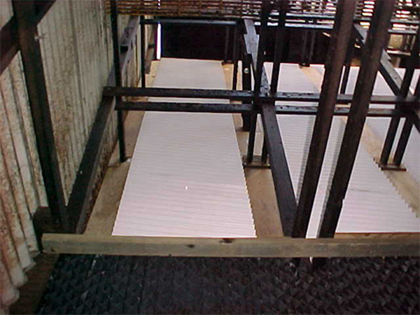 Typical pvc wave panel installation.