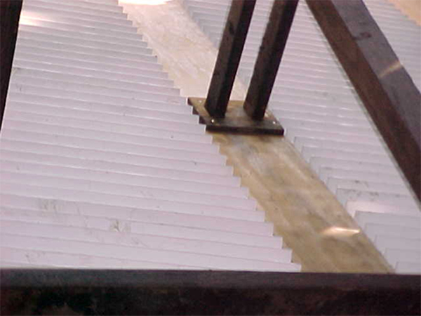 Typical pvc wave panel installation