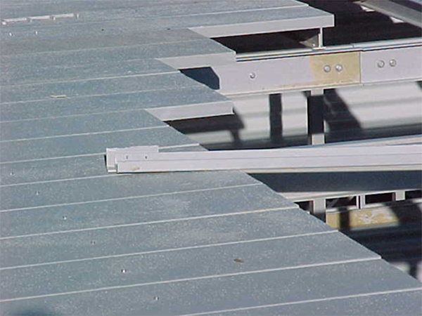 Typical non-skid pultruded FRP fan deck installation detail.