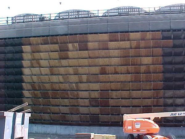 Typical plywood louver installation.