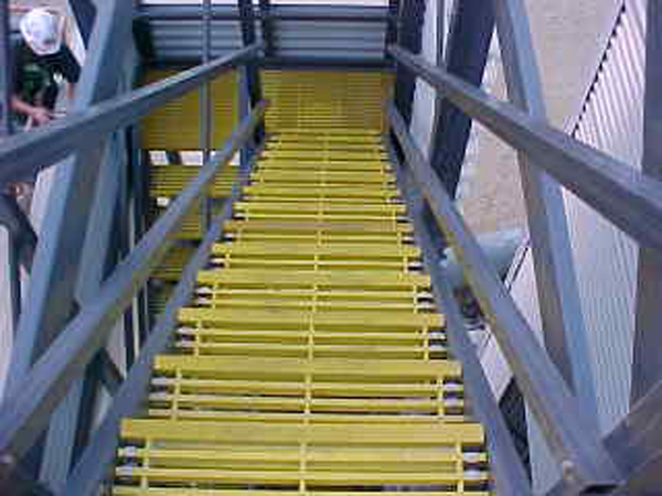 Typical putruded stair treads.