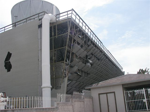 Typical hurricane damage before reconstruction.